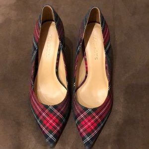 Talbots Plaid Heel - Leather Sole Size 7M